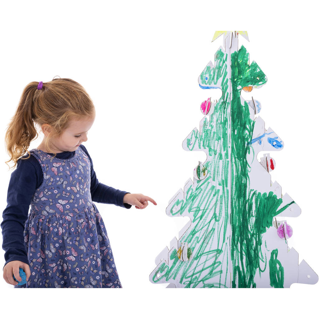 Kid Eco Cardboard Christmas Tree Five Pack White By Kid Eco
