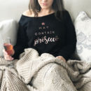 'May Contain Prosecco' Ladies Rose Gold Jumper