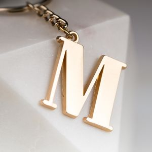 Soft Gold Letter Bag Charm