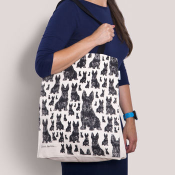 Scottie Dog Canvas Tote Bag