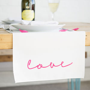 'Love' Neon Sign Table Runner - table runners