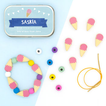 Personalised Ice Cream Bracelet Gift Kit