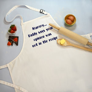 Apron 'Opinion not in the Recipe'