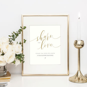 Personalised Wedding Sign | Hashtag Social Media Sign