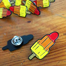 Rocket Ice Lolly Enamel Lapel Pin