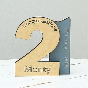 Personalised 21st Birthday Keepsake Gift