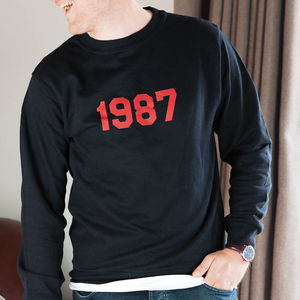 Men's Personalised 'Year' Sweatshirt - gifts for him