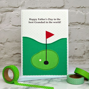 'Golf' Personalised Father's Day Card