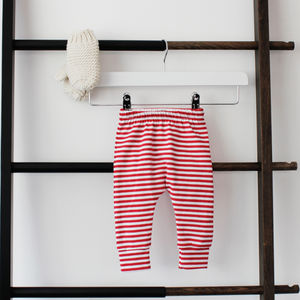 Christmas Candy Cane Stripe Baby Leggings - trousers & leggings