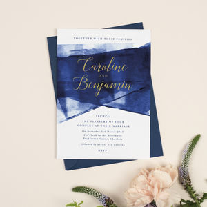 Navy And Gold 'Grace' Wedding Invitations - view all new