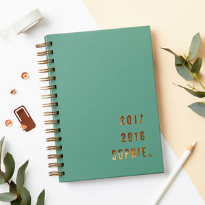 Personalised Copper Mid Year Academic Diary - gifts for teenagers