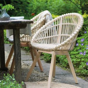 Rattan Indoor Outdoor Scandi Tub Chair - kitchen