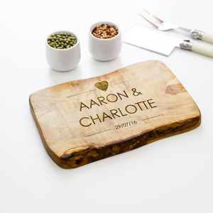 Personalised Live Edge Cheese/Chopping Board - kitchen
