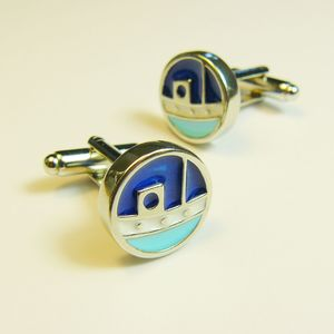 Motor Boat Cufflinks - mens