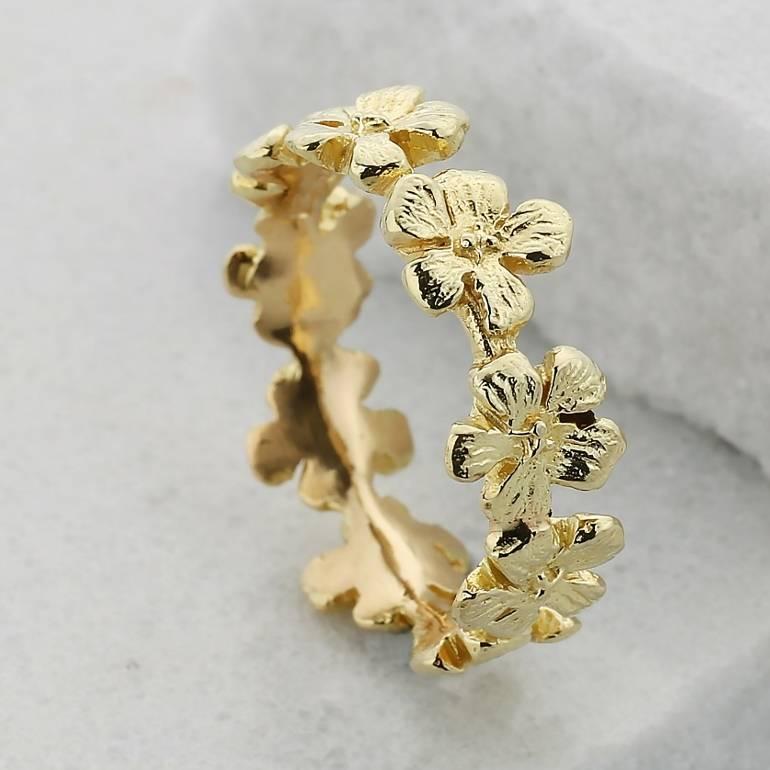 18ct Gold Flower Garland Wedding Ring