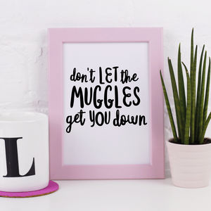 'Don't Let The Muggles Get You Down' Print - summer sale
