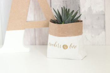 Personalised Paper Plant Pot Bag