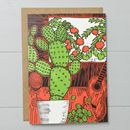 Cactus And Guitar Greeting Card