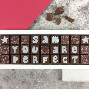 Personalised Chocolates In Medium Box - the gourmet