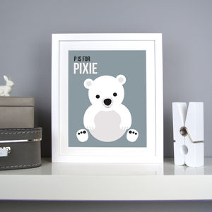 Personalised Polar Bear Nursery Print