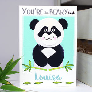 Personalised 'The Beary Best' Panda Card