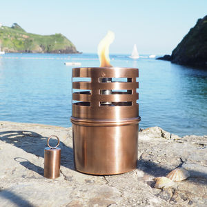 Copper Garden Oil Lamp