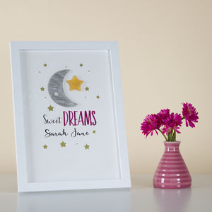 Personalised Sweet Dreams Framed Print