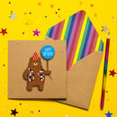 Happy Birthday Personalised Bear Greeting Card