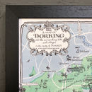Map Of Dorking Signed Print