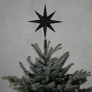 Black Christmas Tree Top Star