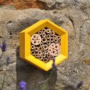 Honeycomb Solitary Bee House in Yellow