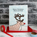'Reindeer' Personalised Christmas Card