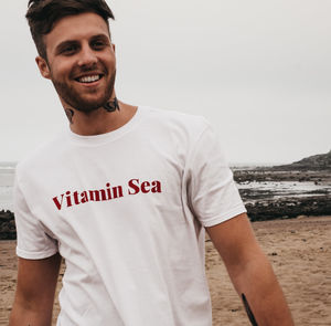 'Vitamin Sea' White T Shirt And Tote Bag - sun appreciation society