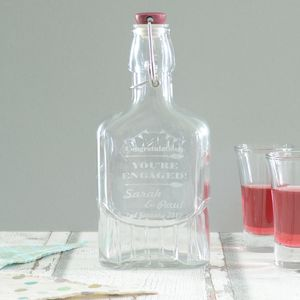 Engaged Personalised Sloe Gin Bottle - kitchen
