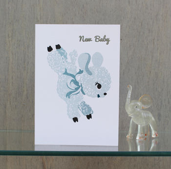 New Baby Lamb Risograph Greeting Card