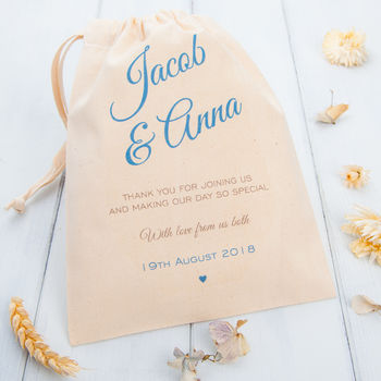 Personalised Wedding Favour Bags