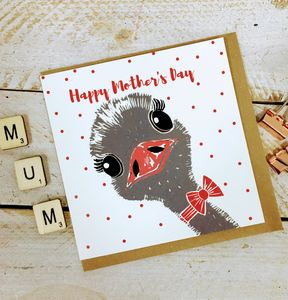 Happy Mother's Day Ostrich Card