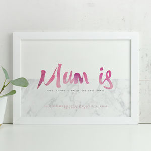 Personalised 'Mum Is' Mothers Day Print - personalised