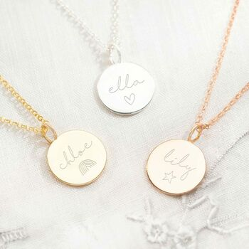 Personalised Sterling Silver Hope Name Necklace