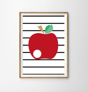 Apple Children's Print - posters & prints