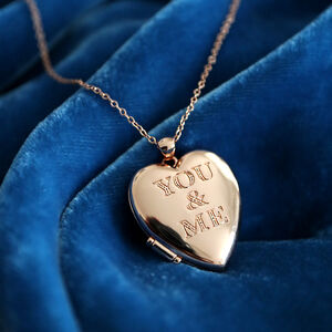 'You And Me' Heart Locket Necklace