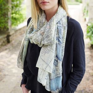 Vintage London Map Scarf - winter sale