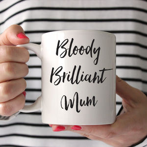 Bloody Brilliant Mom Mug - tableware