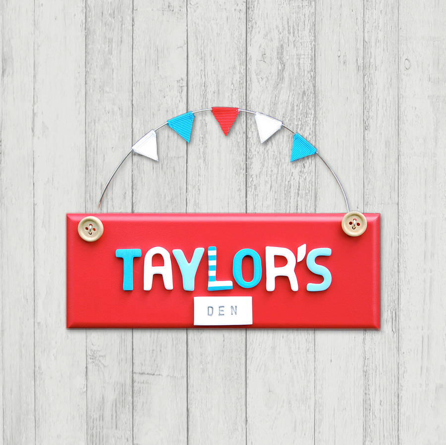 personalised wooden button door plaque by littlebumpkins rh notonthehighstreet com