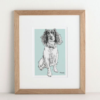 Personalised Pet Portrait from Letterfest