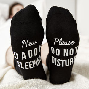 Do Not Disturb Father's Day Socks