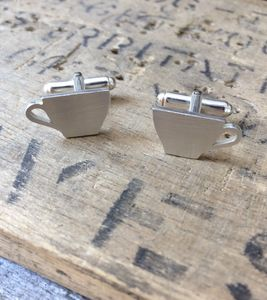 Tea Cup Cufflinks - mens