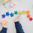 Rainbow Felt Ball Star Garland