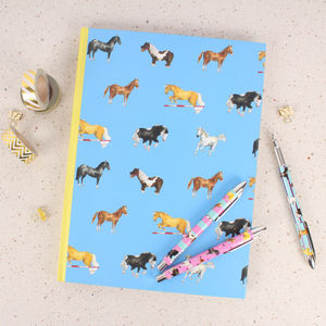 Horses A4 Notebooks And Rollerball Pens Gift Set