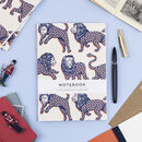 Union Jack Lion Pattern Paperback Swiss Bound Notebook
